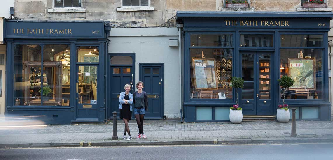 Bath Picture framing shop fronts